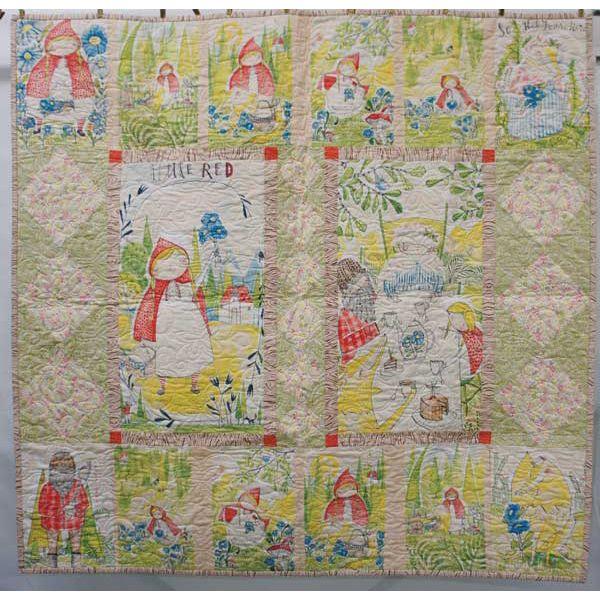 Blend Fabrics Little Red Cori Dantini Fairy Tale Quilt Kit 49 x 49 ... : fairy tale quilt patterns - Adamdwight.com