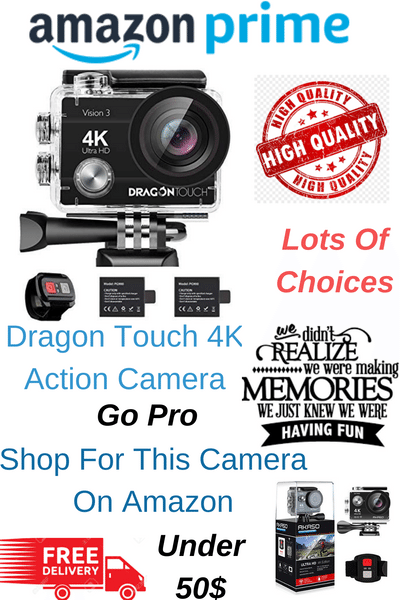 4K ACTION CAMERA with 4X ZOOM: Professional 4K/30FPS, 2 7K/30fps
