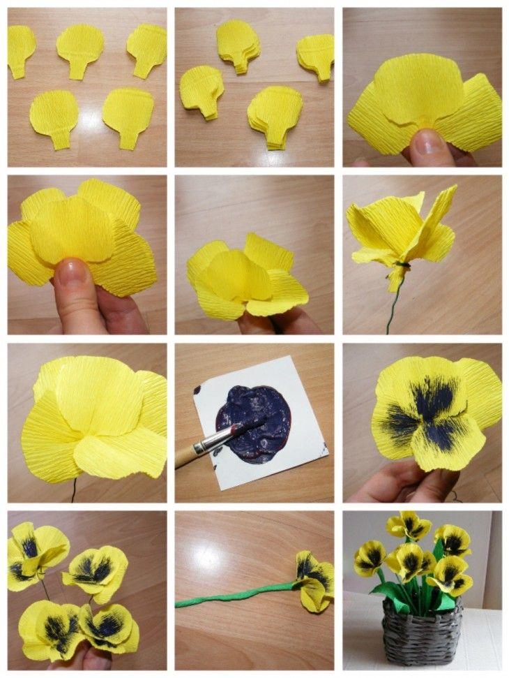 Цветы из креппбумаги своими руками, доставка цветов