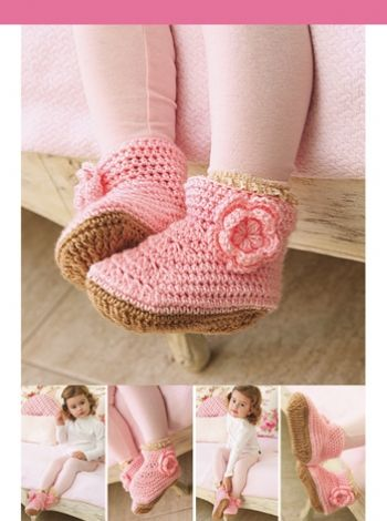 Botitas con flor Crochet Descarga ya el patron en www.eviadigital ... e520c9fd1e588