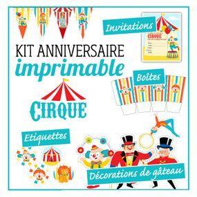 kit anniversaire sp cial cirque activit s enfants pinterest anniversaire sp cial cirque. Black Bedroom Furniture Sets. Home Design Ideas