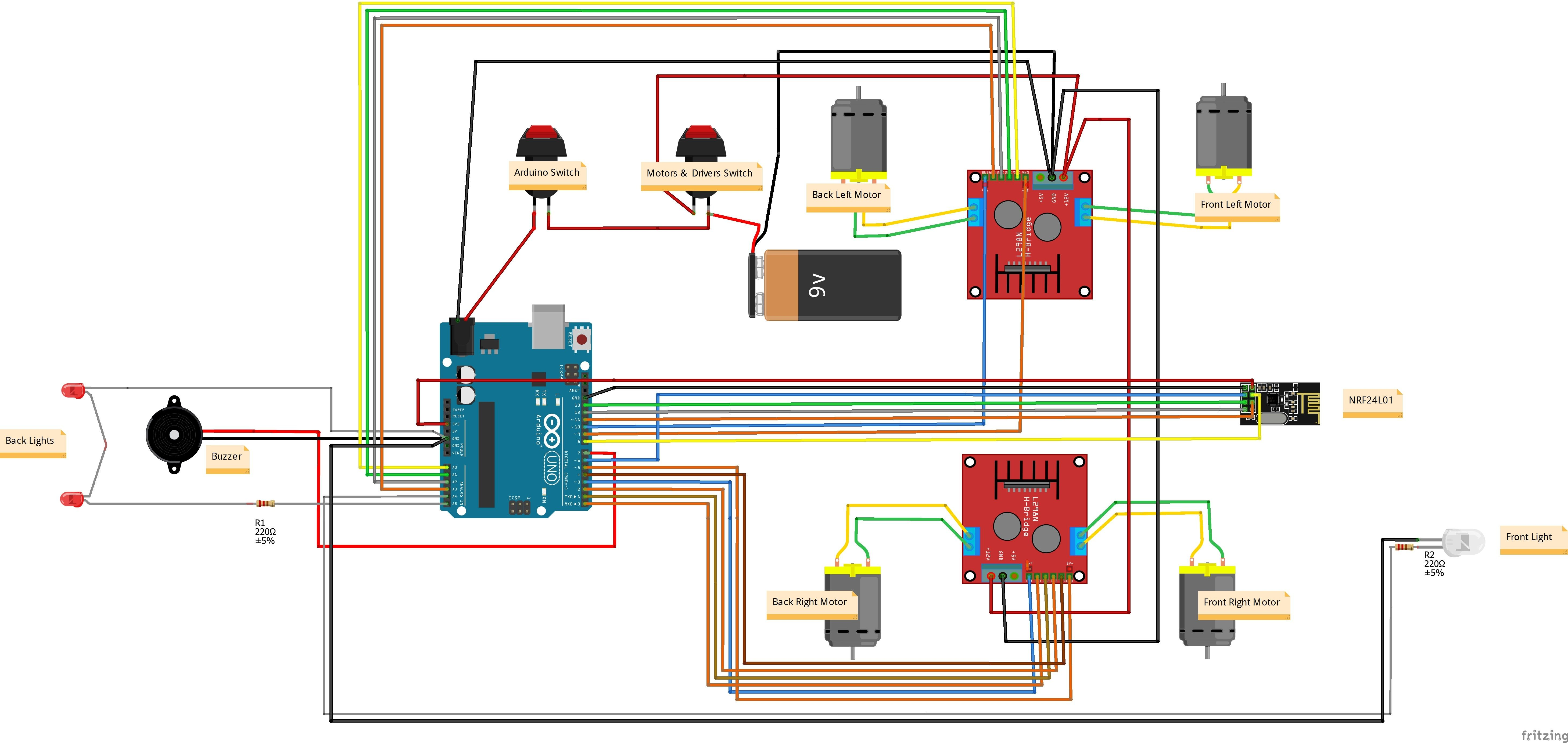 Wireless Remote Control Toy Car Circuit Diagram