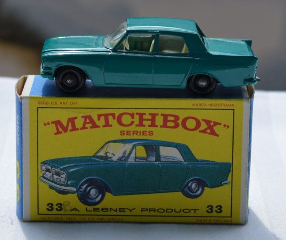 Vintage Matchbox Series No 33 Ford Zephyr 6 8 00 This Is The No 33 Ford Zephyr 6 Made In England By Lesney This Collectibl Ford Zephyr Antique Collection