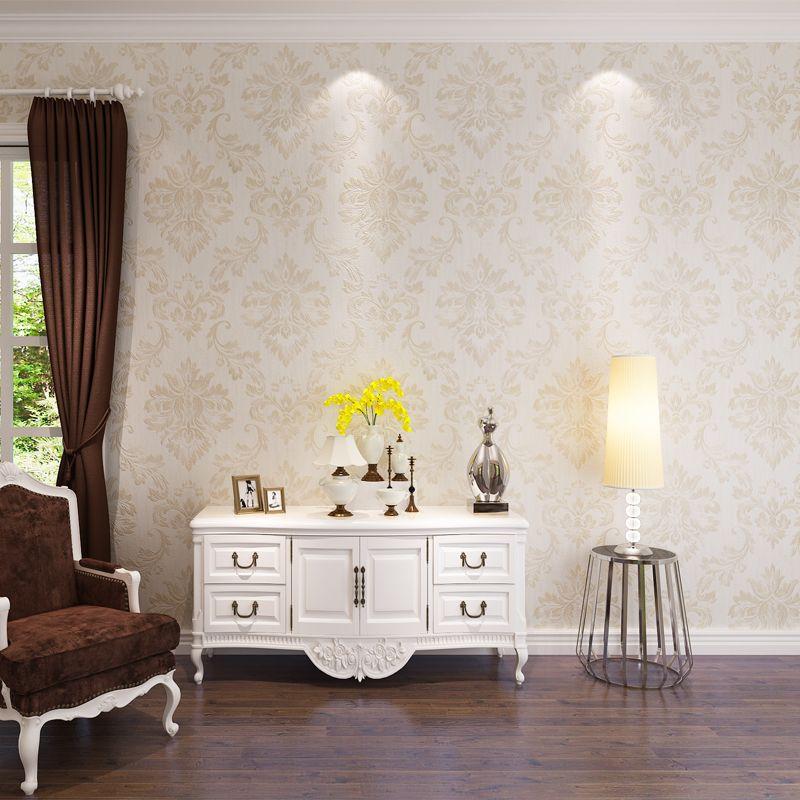 Hanmero 2017 New Fashion Damask Design Wallpaper Leaf Pattern Pvc Captivating Best Living Room Wallpaper Designs 2018