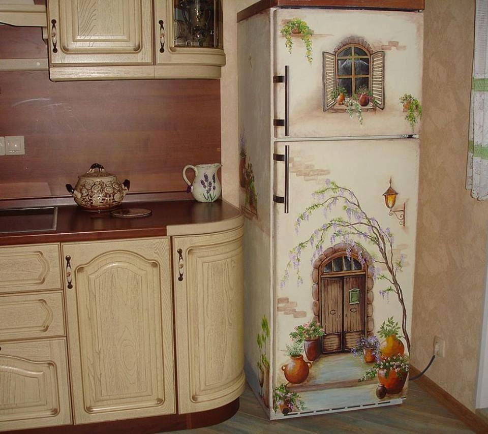 Painting An Old Fridge Decoration Crafts And Ship Party Ideas  # Muebles Nenufar