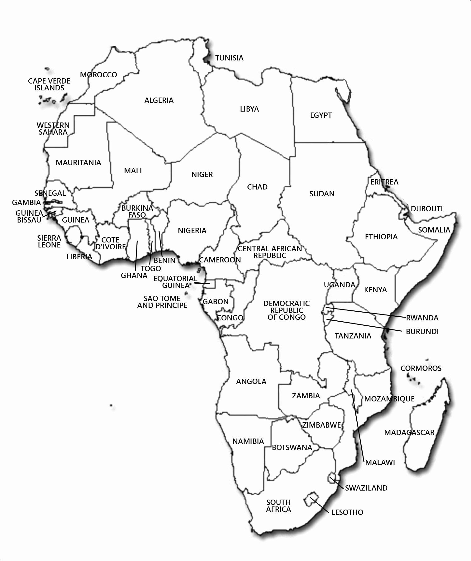 African Countries Coloring Page Inspirational Africa Lessons Tes Teach World Map Africa Africa Map Political Map