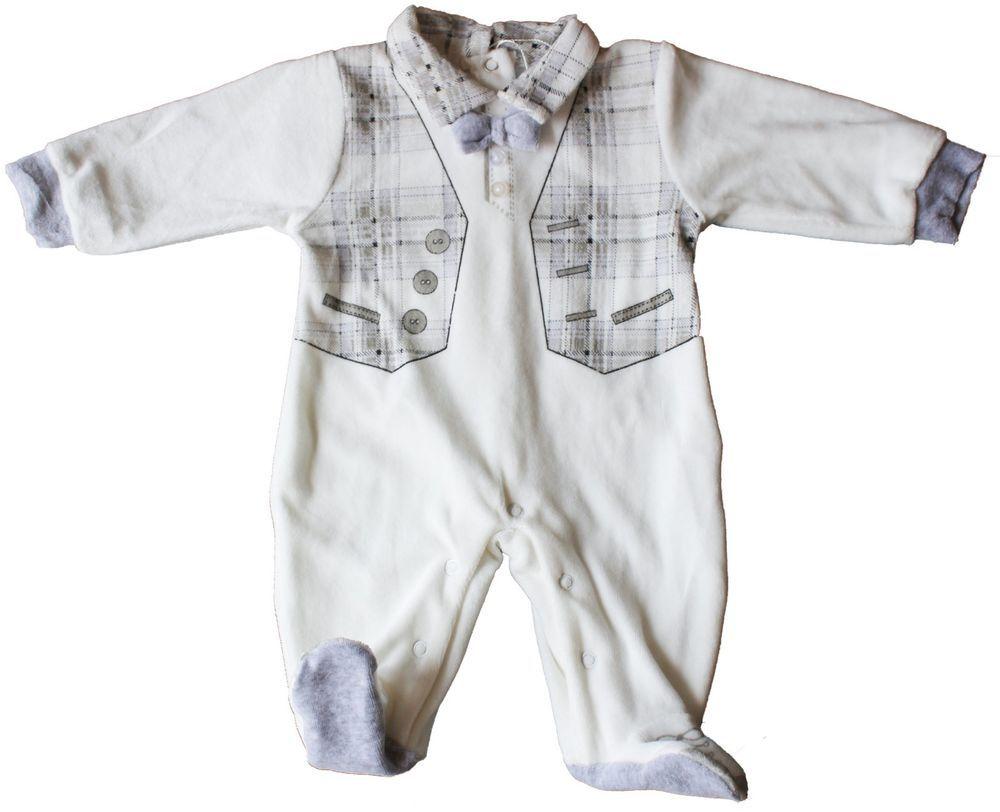 TUTINA CINIGLIA NEONATO BABY FINTE BRETELLE  E CRAVATTINO TAGLIE 0//12 MESI 715