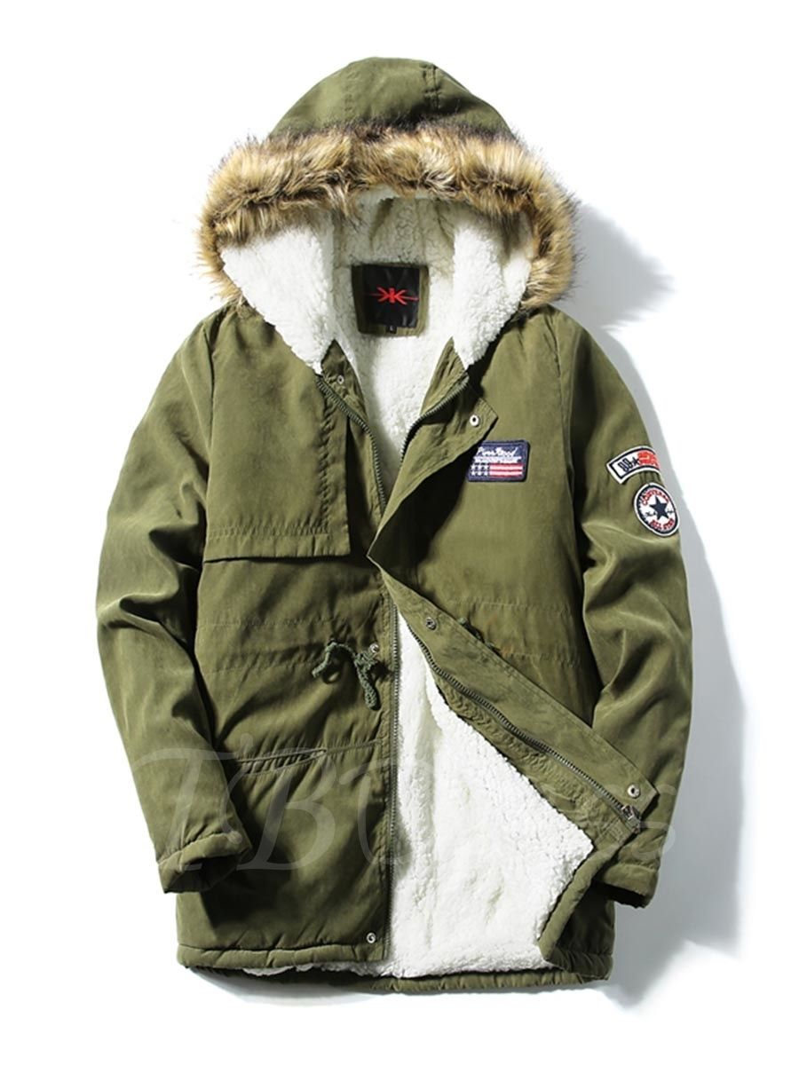 d37170a474a9 Tbdress.com offers high quality Korean Style Hooded Badge Decorated Men s  Winter Coat Men s Coats unit price of   45.99.