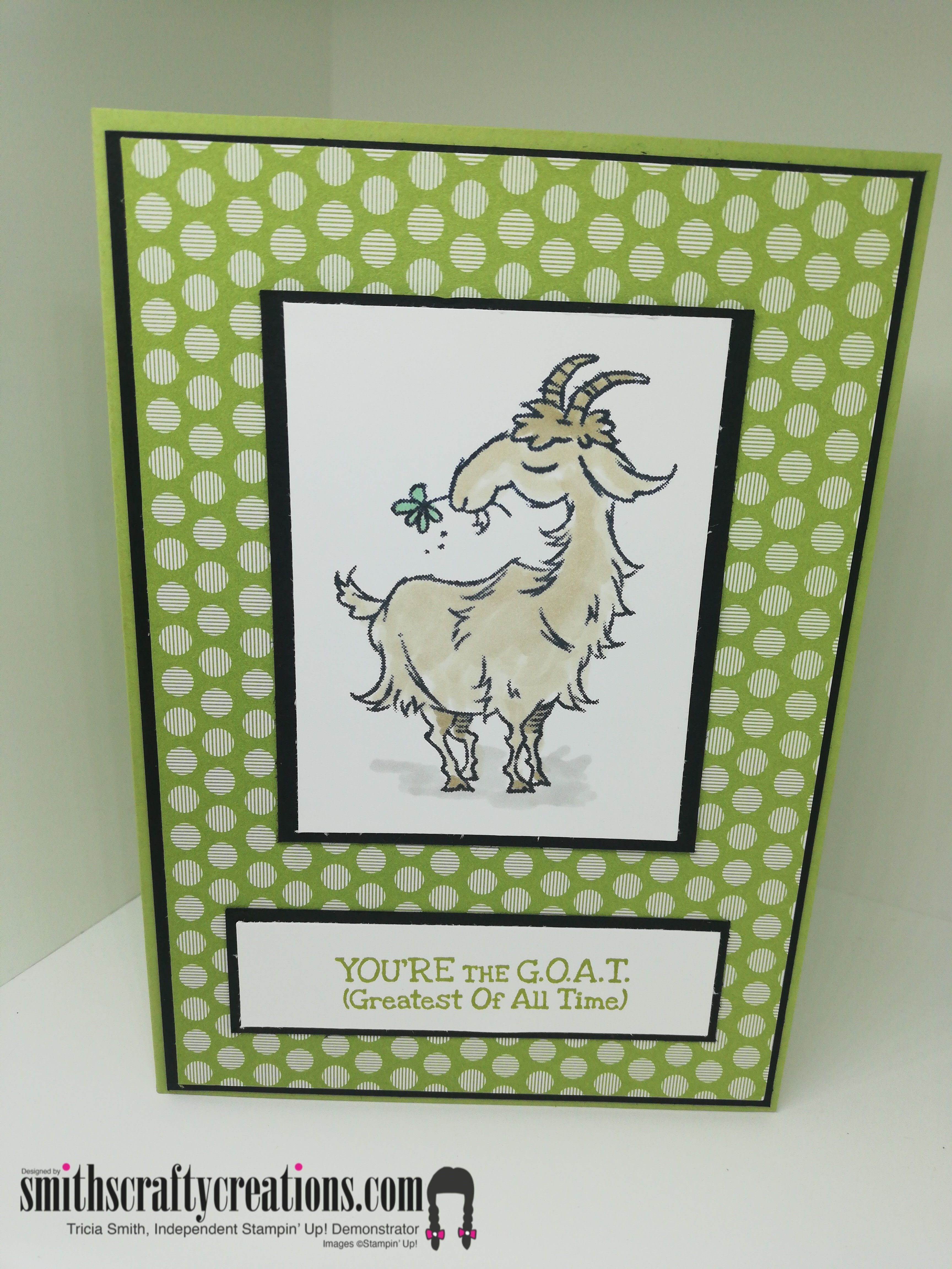 Funny Birthday Card Ideas (Way to Goat by Stampin' Up!) in