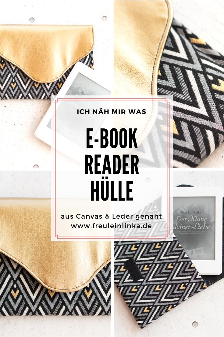 ebook-reader hülle nähen - freulein linka   nähen anfänger