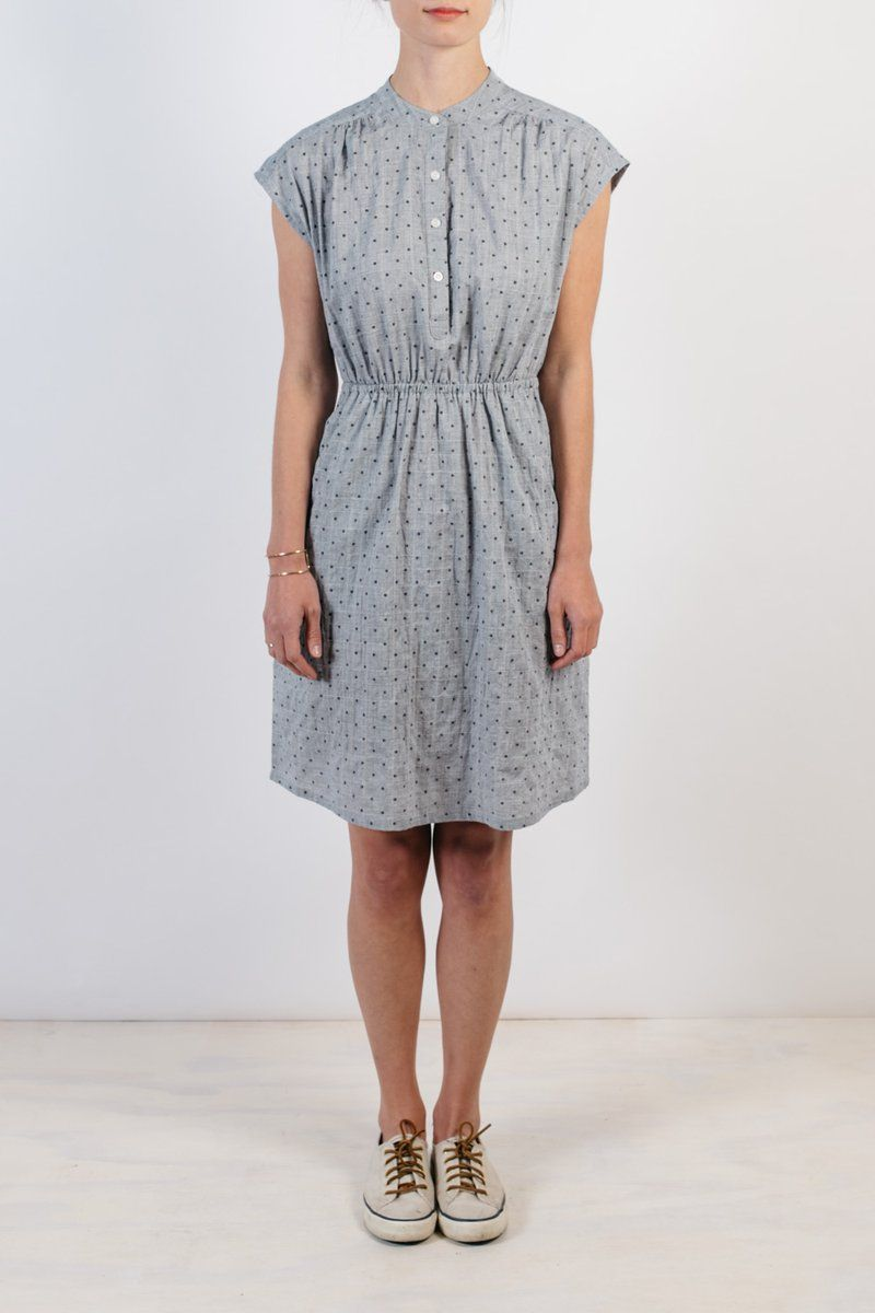 The Lorane Is A Comfortable And Dependable Go To For Warm Weather Dressing This Drapey Knee Length Dress Features An Elastic Waistband Gathering In