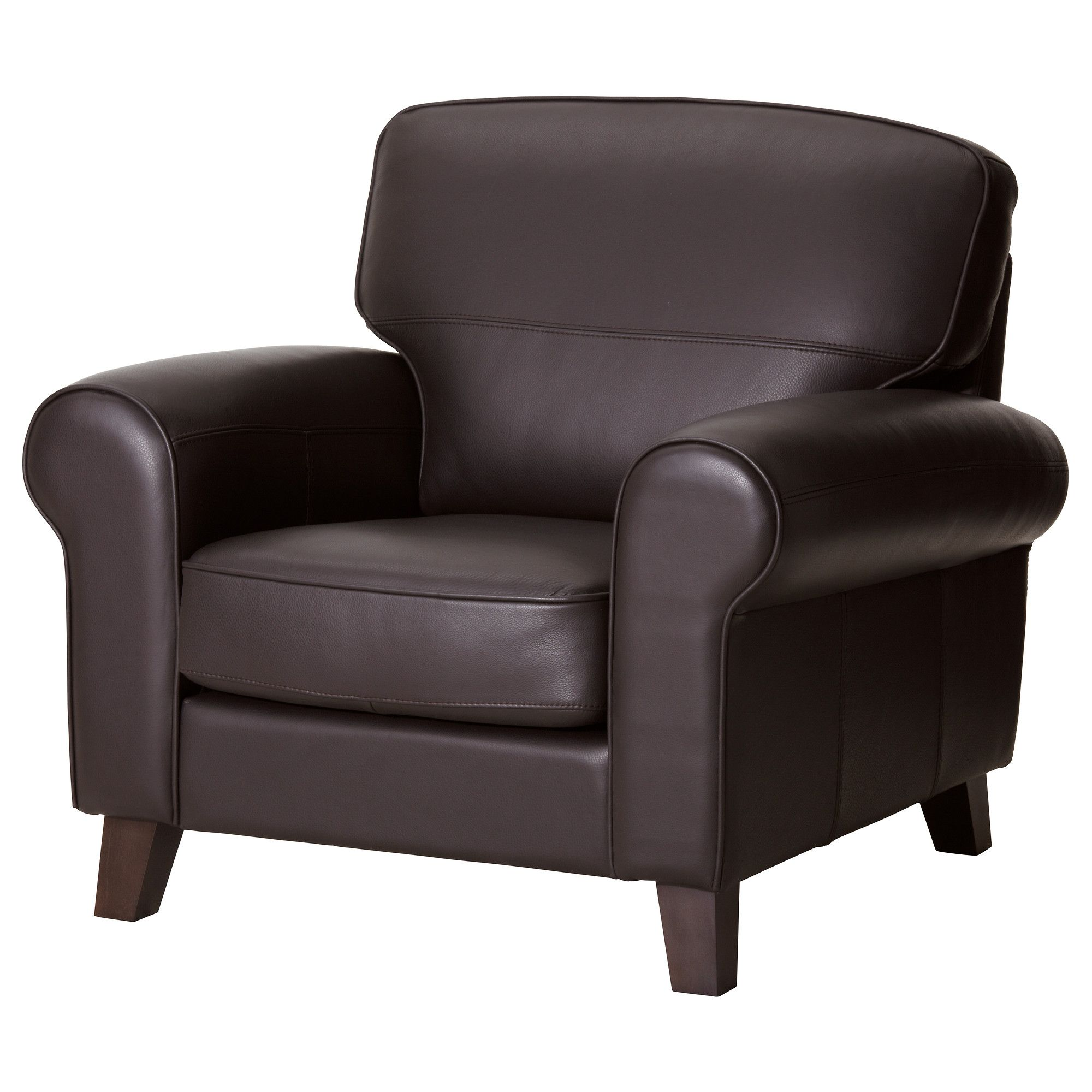 Charmant YSTAD Armchair IKEA Seat Surfaces And Armrests In Soft, Hardwearing, Easy  Care Grain Leather.