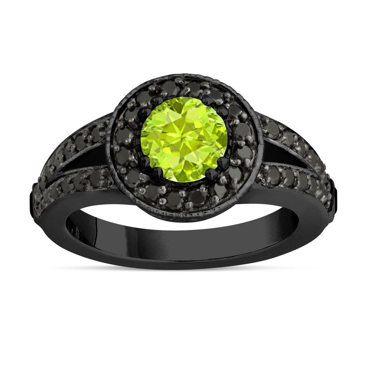 Jewelry & Watches Diamond Black Diamond Engagement Ring 3.34 Ct Diamond Silver Ring New Handmade