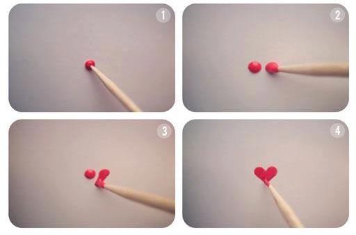How to make a heart with nail polish nail art pinterest how to make a heart with nail polish prinsesfo Images