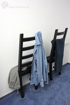 Ikea Hack Herrendiener Kleider Kleiderständer Stuhl - schlafzimmer selber machen