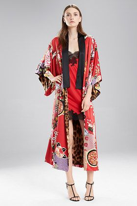 39ded7e1ca Natori Mikado Reversible Robe Kimonos, Lounge Wear, Fall 2016, Boho Chic,  Kimono