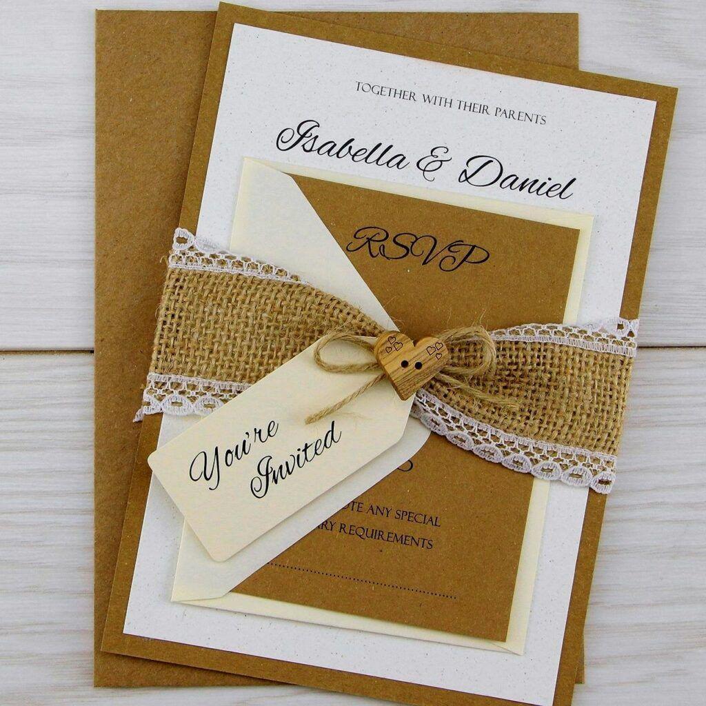 Creative Wedding Invitation Card Design Ideas Creative Wedding Invita In 2020 Wedding Invitations Diy Rustic Wedding Invitations Uk Country Style Wedding Invitations
