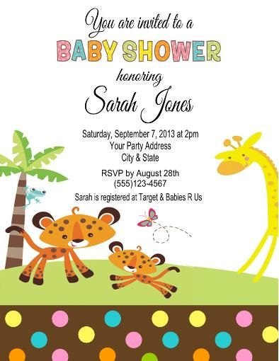 Baby Shower Fisher Price Jungle Animals Party by CustomWrappers4U