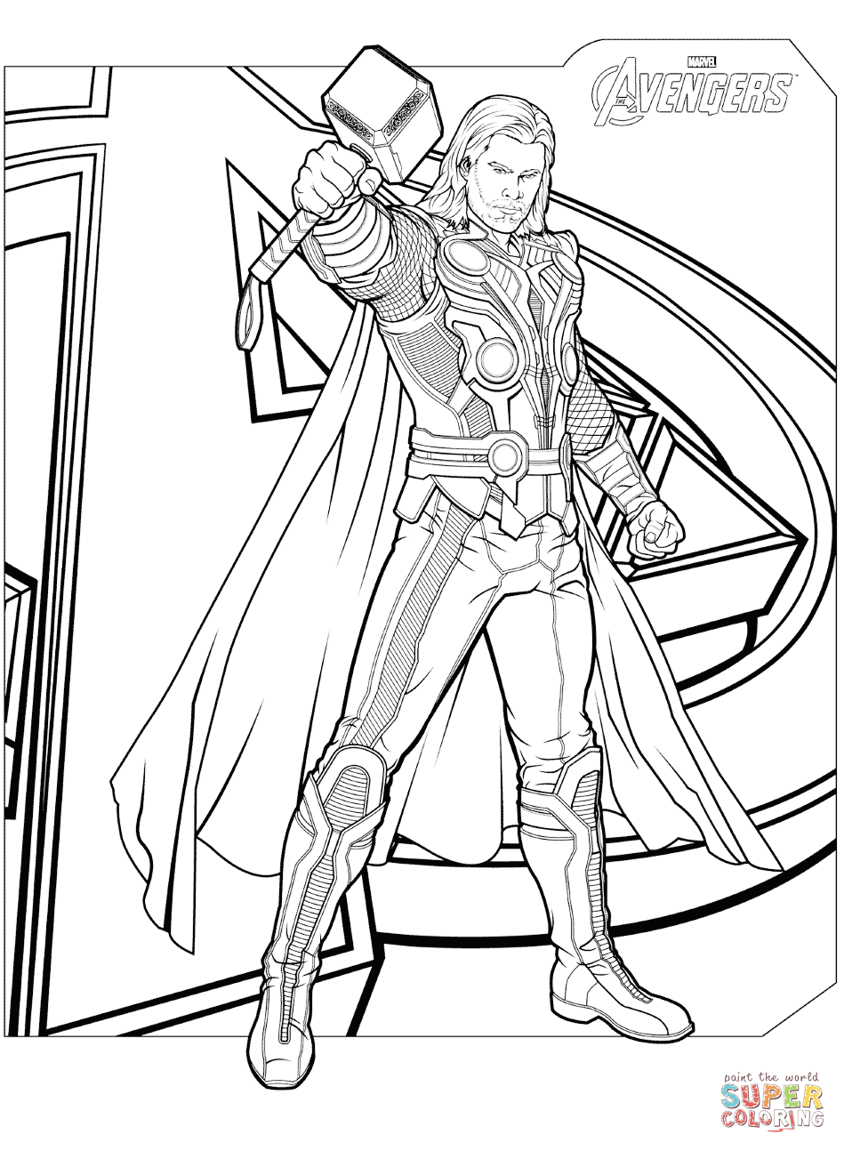 Avengers Thor Colouring Pages Avengers Coloring Pages Marvel Coloring Avengers Coloring
