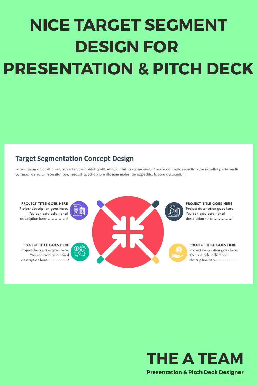 PowerPoint target segment design for presentation, pitch