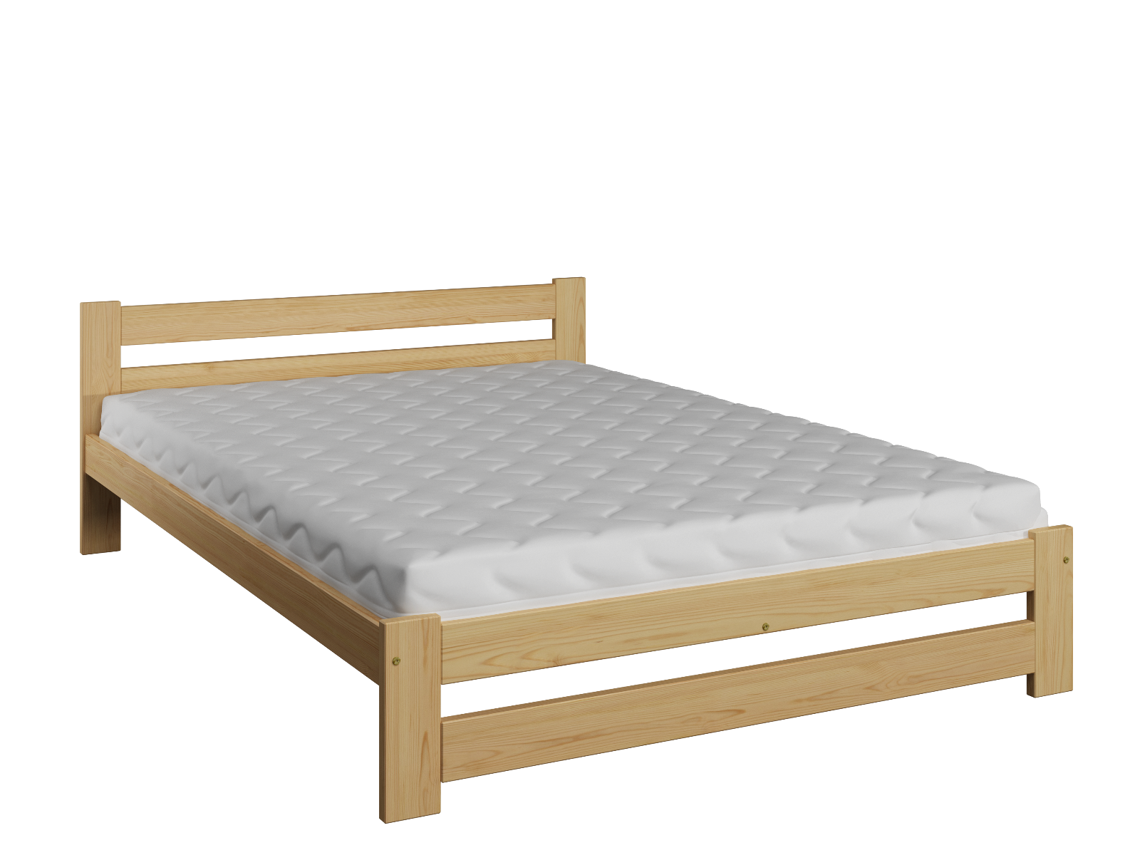 Wooden Pinewood Bed Frame 4Ft Small Double 120X190 Size Slats