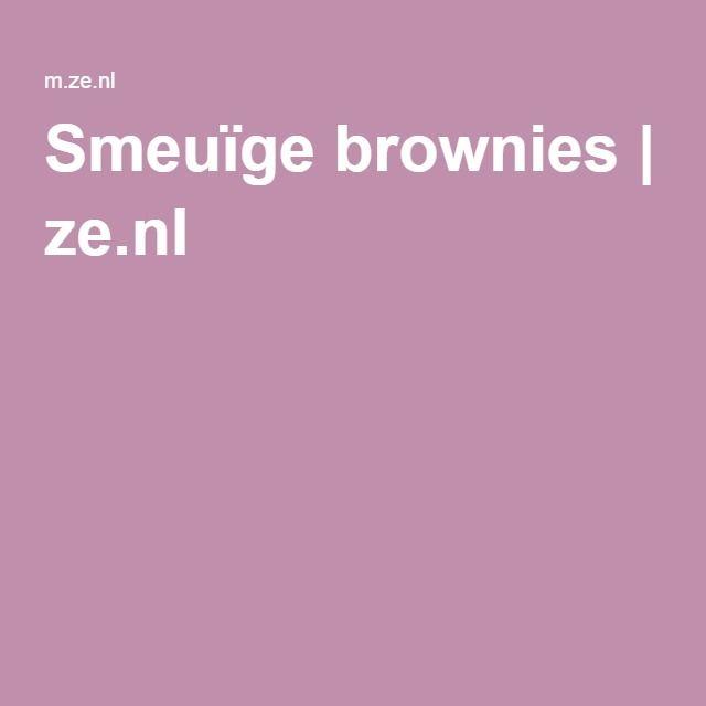 Smeuïge brownies   ze.nl