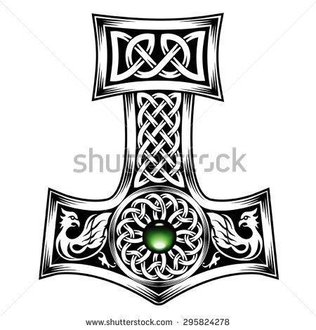 hammer of thor medieval viking symbol tattoo pinterest. Black Bedroom Furniture Sets. Home Design Ideas