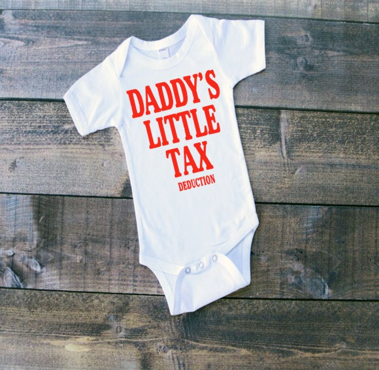 Free shipping daddys little tax deduction baby one piece free shipping daddys little tax deduction baby one piece personalized one piececarters negle Image collections
