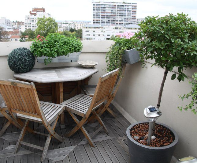 Photo deco terrasse balcon veranda appartement for Appartement deco pinterest