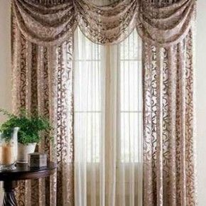 Elegant brown lace curtains for the living room teardropsonroses ...