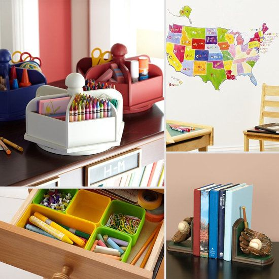 colorful desk accessories for kids from lilsugar | my kids