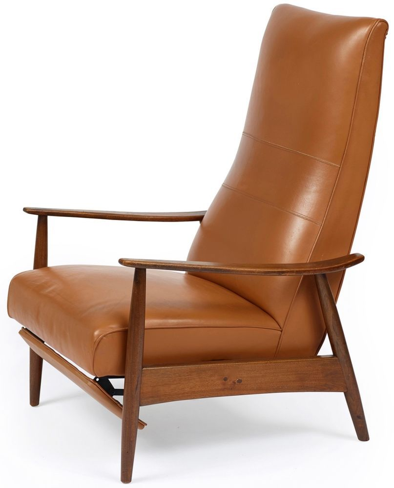 Fauteuil Inclinable Milo Baughman 1966 Vintage Teck Et Cuir Lounge Chair Chair Lounge Chair Baughman