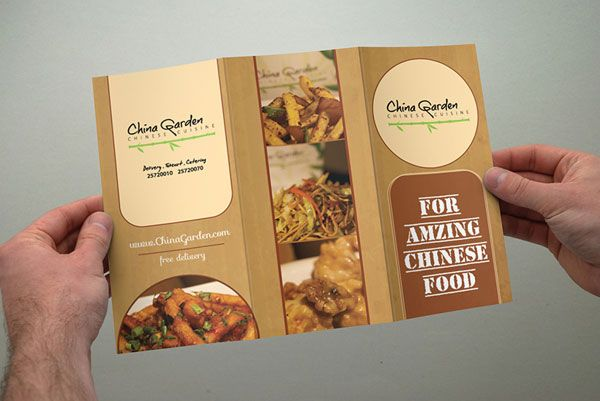 China Garden Restaurant Brochure Design   Best  Beautiful