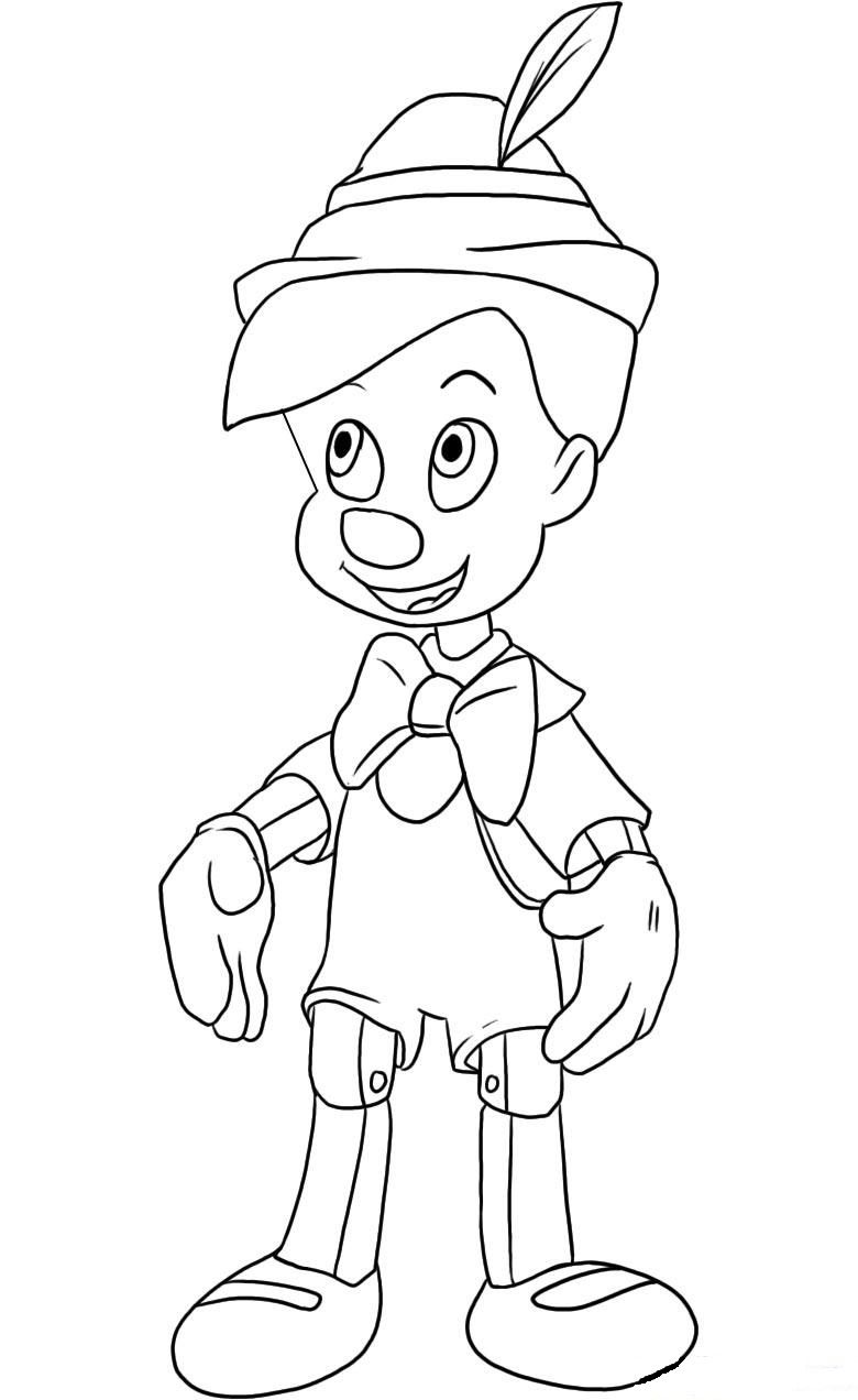 How To Draw Pinocchio Penguin Coloring Pages Coloring Pages Online Coloring For Kids [ 1272 x 780 Pixel ]