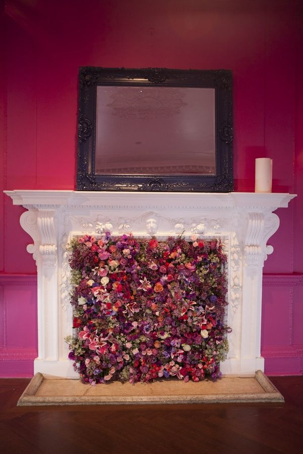 Fireplace doesn't work, make it into a work of art of decorate the ...