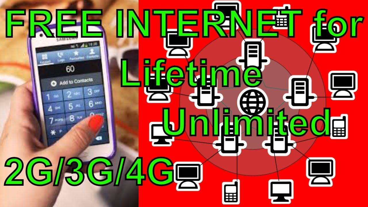 FREE INTERNET for Lifetime Unlimited 2G/3G/4G JIO, Airtel, idea