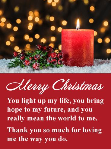 You Light Up My Life Romantic Merry Christmas Card Birthday Greeting Cards By Davia Christmas Cards Christmas Greetings Merry Christmas Card