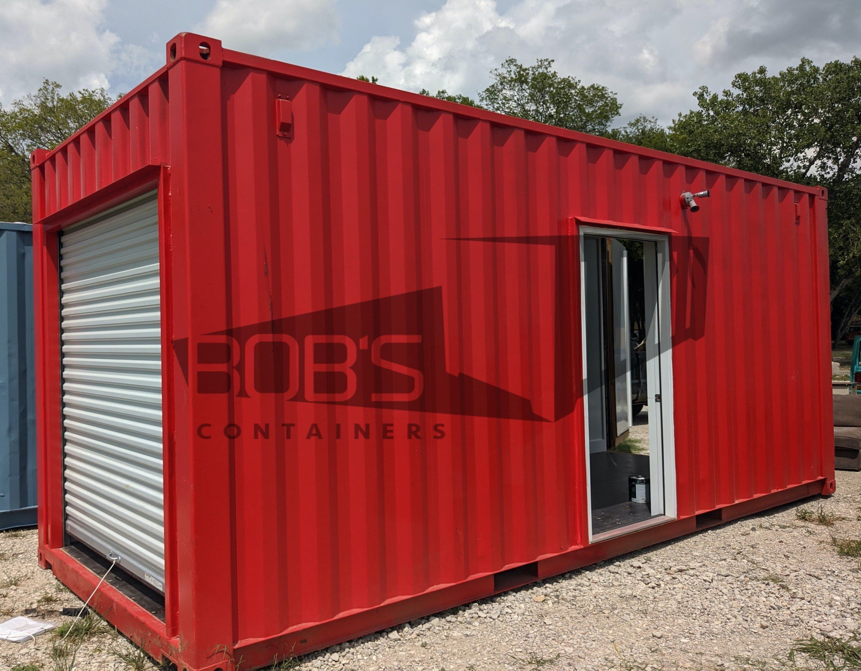 Photo of 20 ft Shipping Container Office – The Ector Model – New / Standard (8.5′) / Drywall