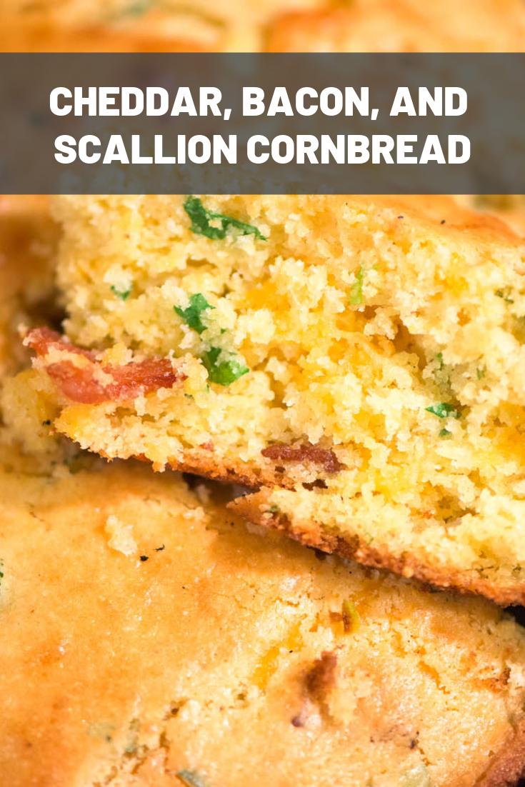 cheddar bacon and scallion cornbread recipe bacon cheddar and rh pinterest com