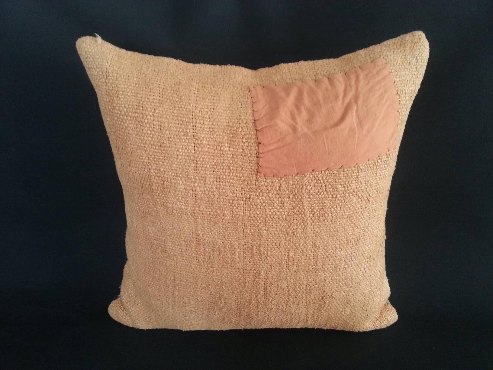 Hemp Mustard Pillow Living Room Decoration Pillow 18x18inches Handwoven Antique Decorative Turkish Hemp Cushion Cover Pillows Sofa Pillow Goruntuler Ile