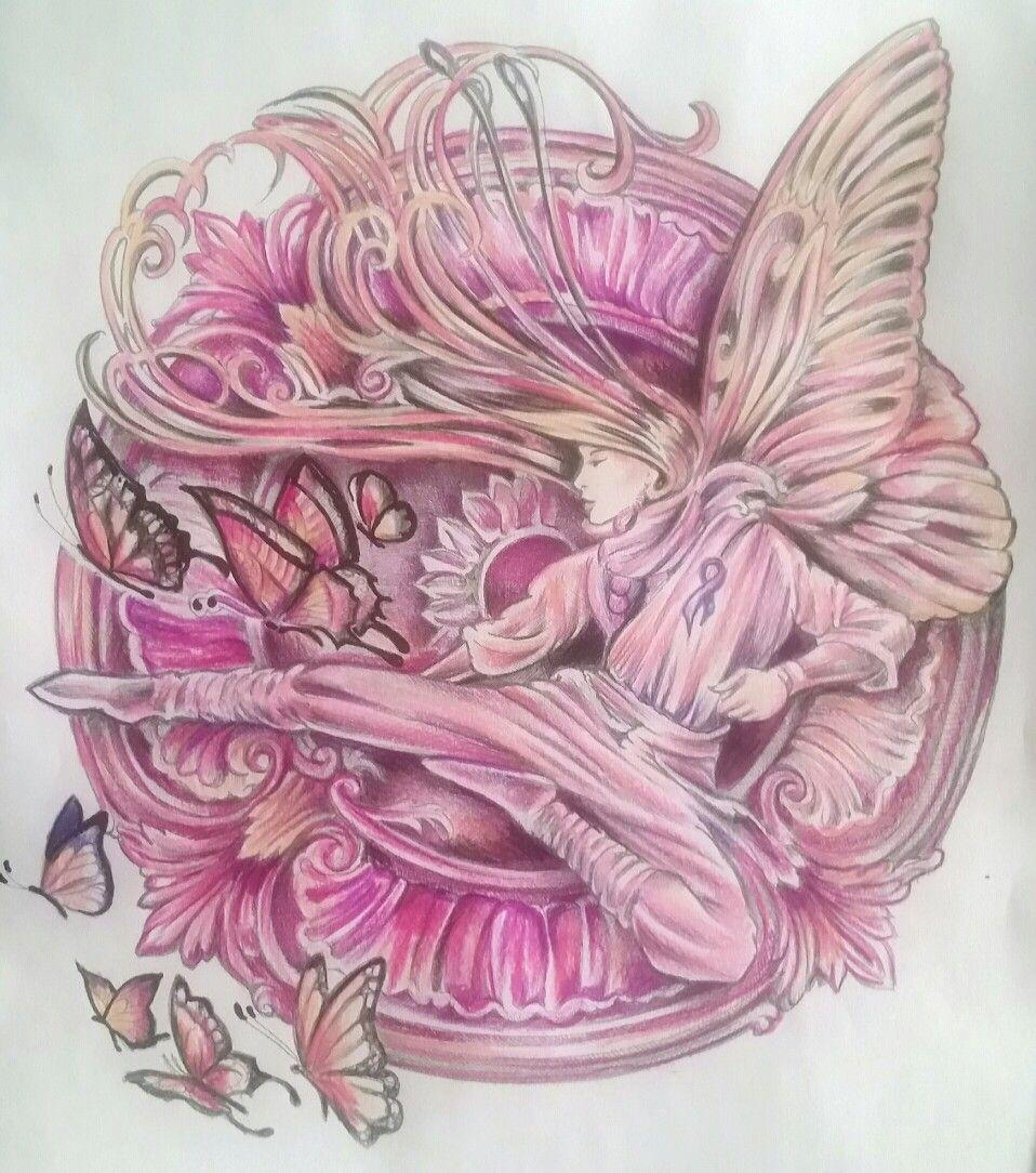 breast cancer ribbon. artist Bennett Klein. Colourist Sarah Hunter ...