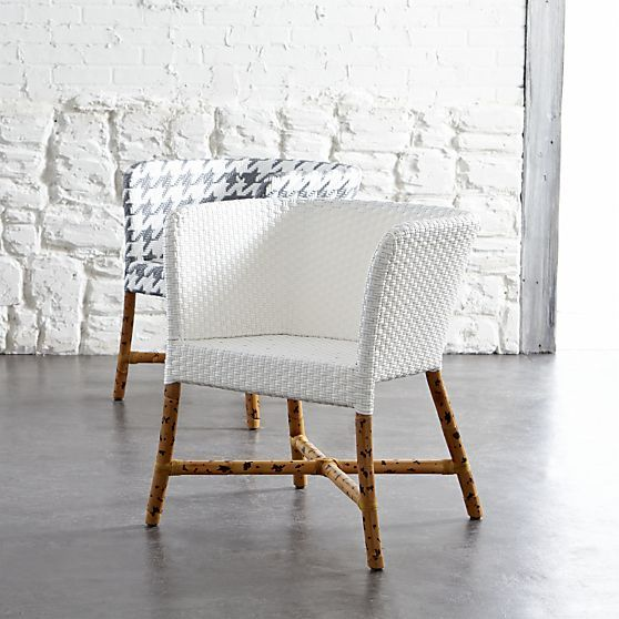 como white woven chair in dining chairs crate and barrel so rh pinterest com