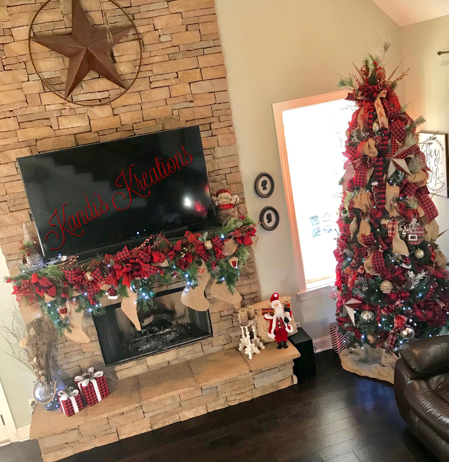 Christmas tree Buffalo check by Kandiu0027s Kreations