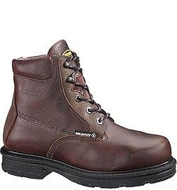 """W01655 Wolverine Men's Fusion 8"""" Safety Boots - Brown"""