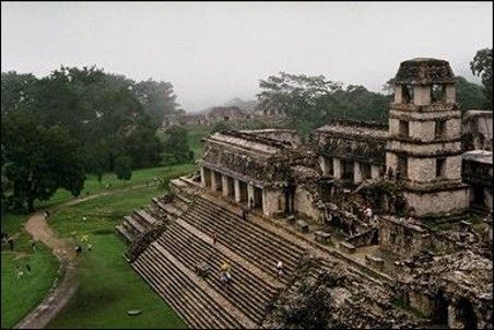Palenque was a Maya city state in southern Mexico that flourished in the 7th century. The Palenque ruins date back to 226 BC to around 799 AD
