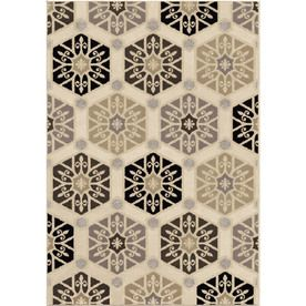 Orian Rugs Illusions Ivory Rectangular Indoor Machine-Made Novelty Area Rug (Common: 8X11; Actual: 7.83-Ft W X 10.83-Ft