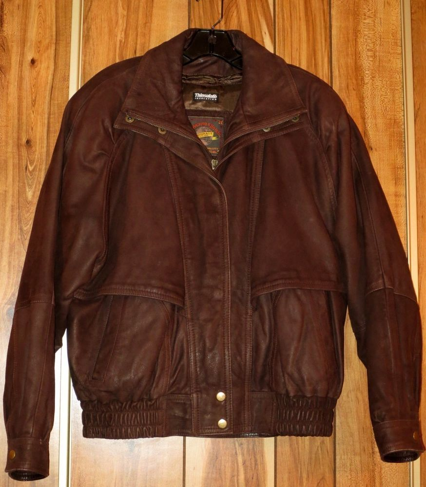 The Games Factory 2 Brown leather bomber jacket, Fashion
