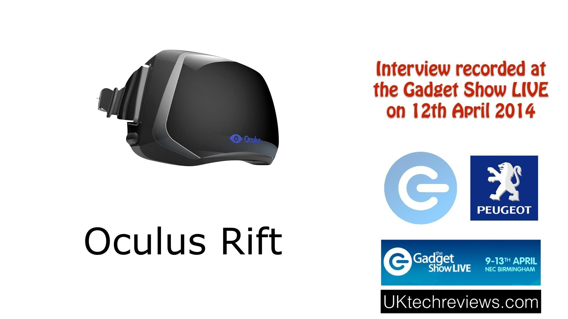 Gadget Show Live 2014 - interview with Oculus Rift and