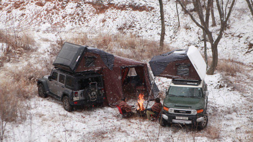 A Rooftop Tent With A Built In King Size Bed Car Top Tent Roof Top Tent Top Tents