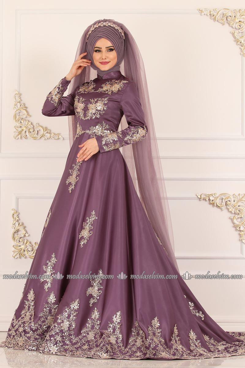 Modaselvim Gold Pullu Saten Abiye Ygs6188 Lila Dresses Fashion Dresses Formal Dresses Long